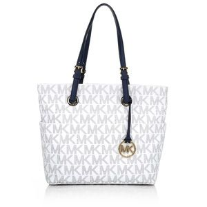 Michael Kors Jet Set Tote with logo in Navy